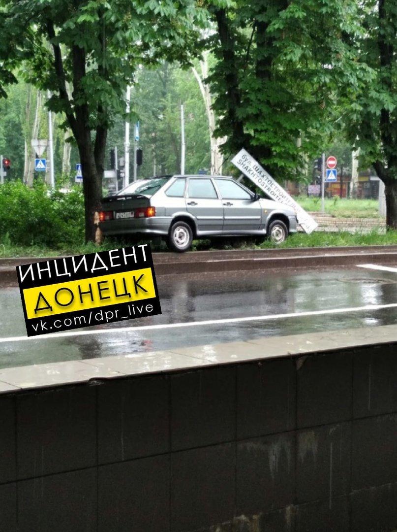 Непогода в оккупированном Донецке: произошли многочисленные ДТП, - ФОТО, фото-3