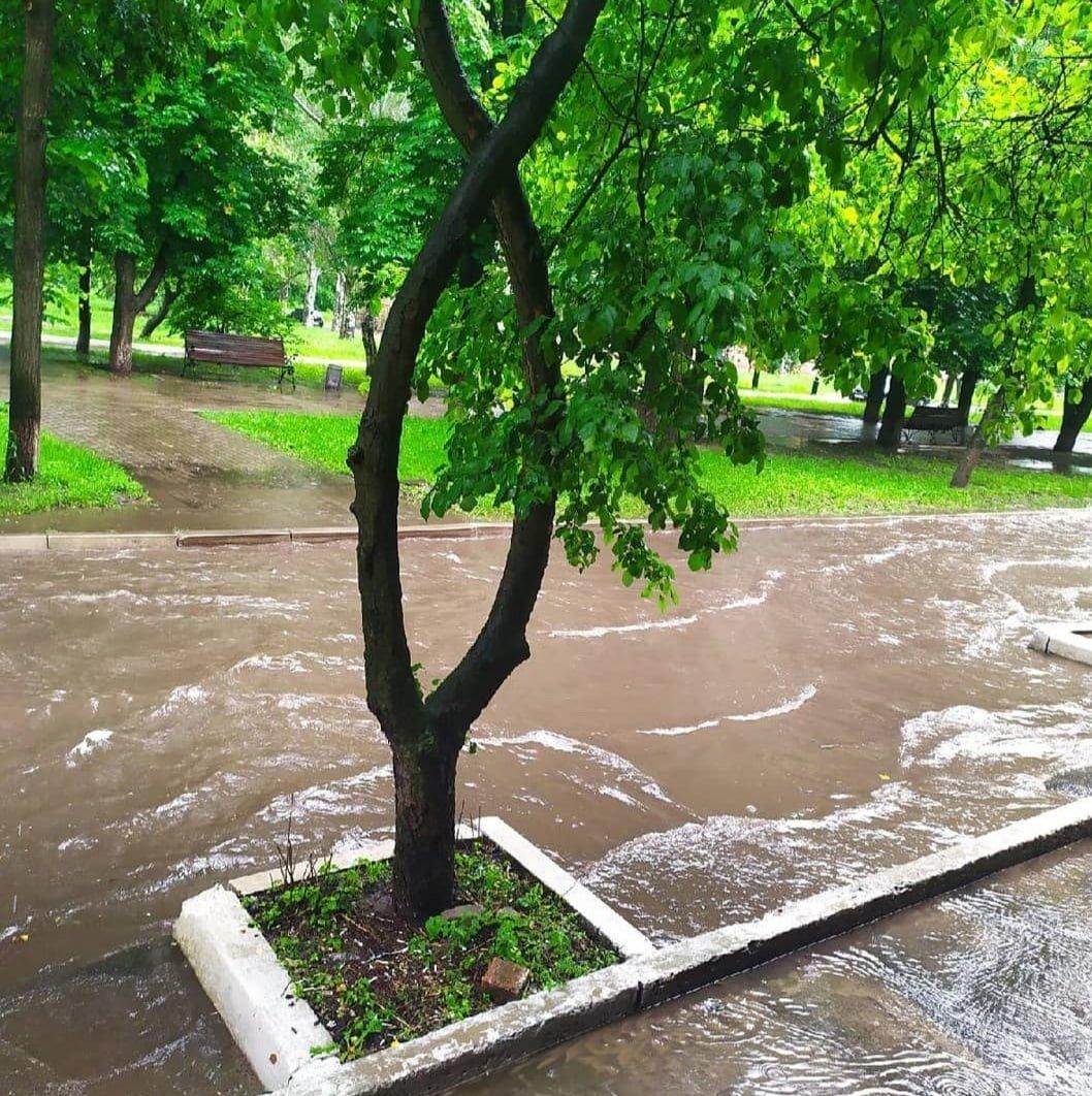 В оккупированном Донецке дождевая вода смывает асфальт, - ФОТО, фото-6