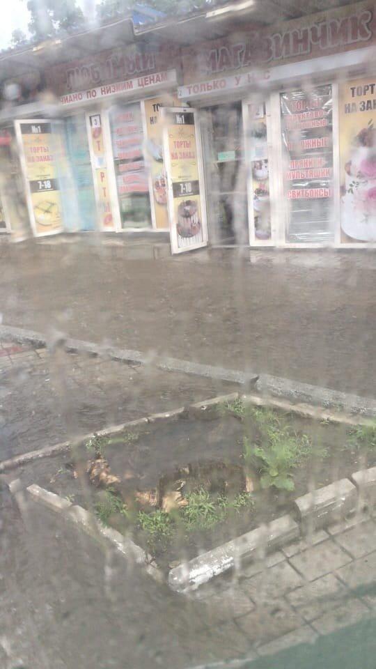 В оккупированном Донецке дождевая вода смывает асфальт, - ФОТО, фото-8
