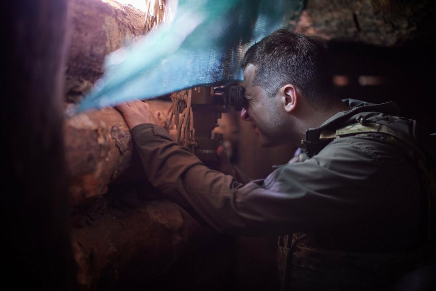 Зеленский посетил передовую на Донбассе, - ФОТО, фото-8