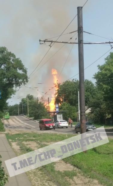 В оккупированном Донецке сильный взрыв и пожар, - ФОТО, фото-2