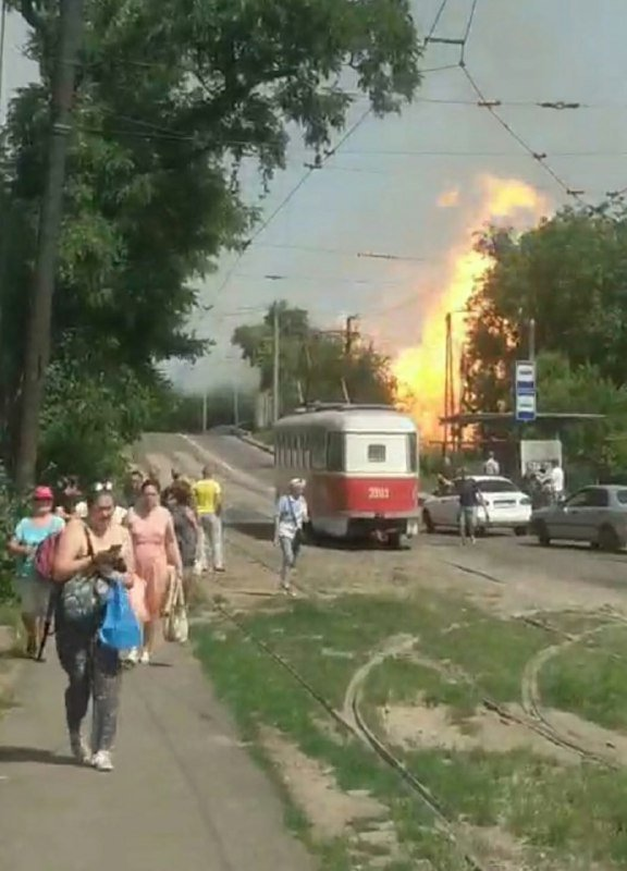В оккупированном Донецке сильный взрыв и пожар, - ФОТО, фото-1