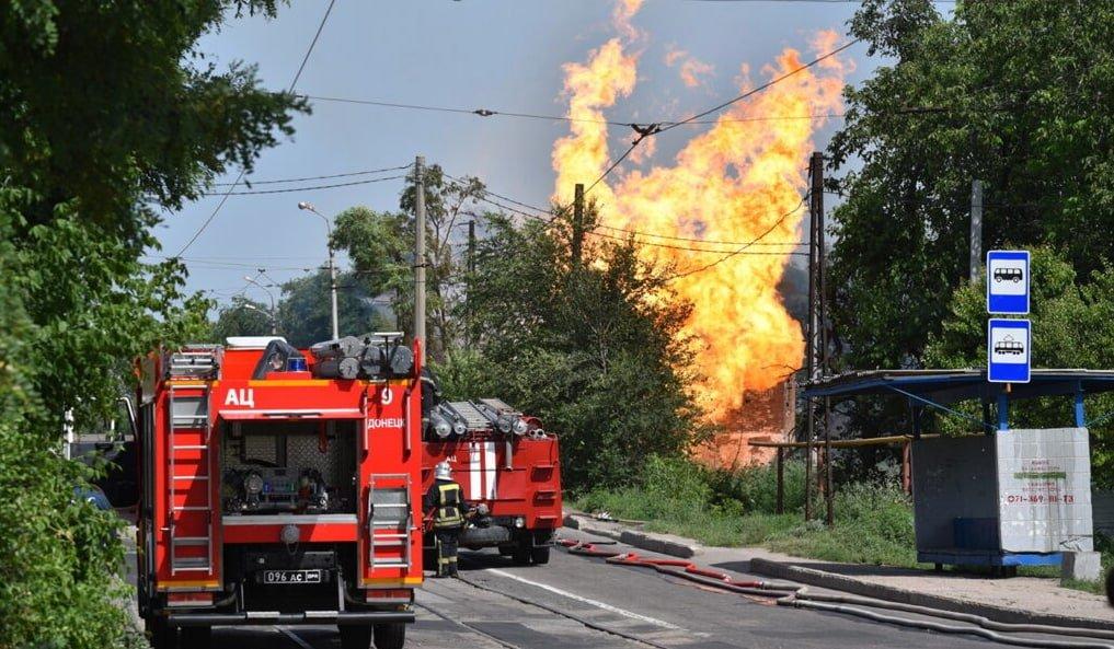 Крупный пожар в Донецке потушили: стало известно, что сгорело, - ФОТО, фото-1