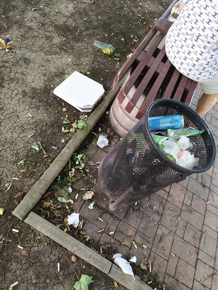 Окурки, объедки, умирающие розы: центр Донецка завален мусором, - ФОТО, фото-5