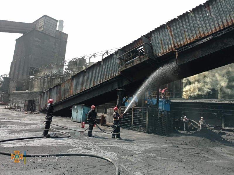 В Авдеевке произошел пожар на коксохимическом заводе, - ФОТО, фото-4