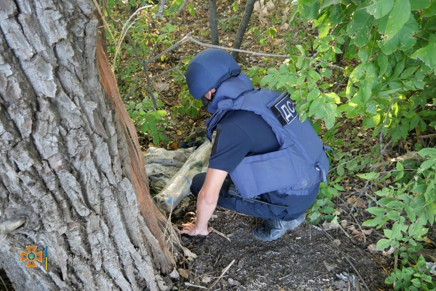 Саперы обезвредили боеприпас на трассе под Волновахой, - ФОТО, фото-4