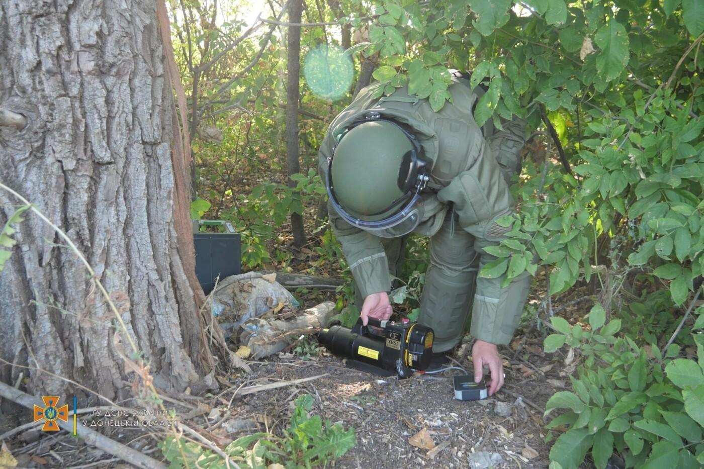 Саперы обезвредили боеприпас на трассе под Волновахой, - ФОТО, фото-8